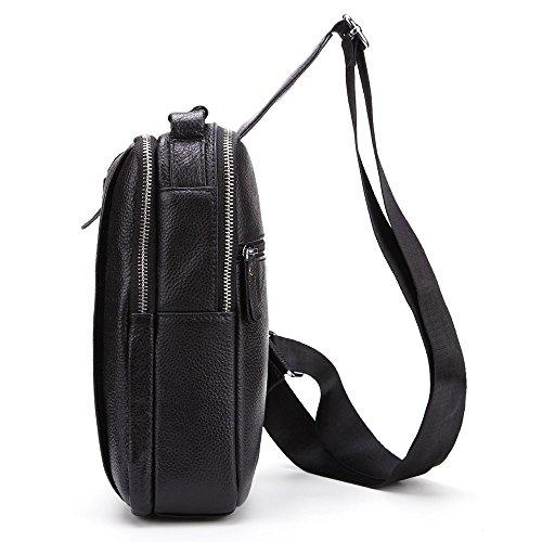 Pecho Yamyannie al de multifunción de Hombro Aire de Hombres Movimiento Bolsa Crossbody Negro para Hombres Bolsa Travel Cuero Sport Bolsas el Libre Hiking el Daypack para Bolsa Cuadrada para Casual RzRr6q