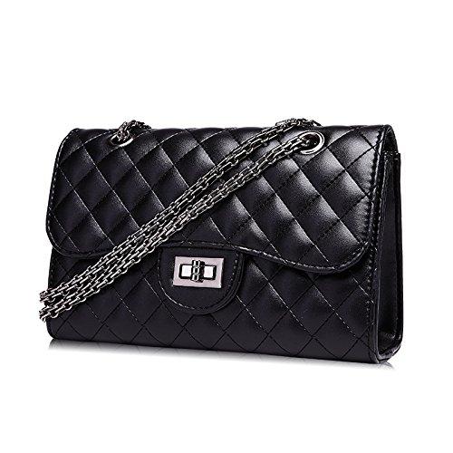 Bag Quilted UNYU femme Shoulder Noir pour Sac Noir bandoulière ZqEx6BHEw