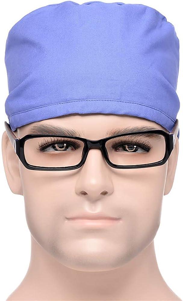 ITODA Unisexe Bonnets Chirurgicaux M/édical Infirmi/ère Ajustable Scrub Cap en Coton Casquette de Chirurgien Docteur Confortable Chapeau pour H/ôpital V/ét/érinaire Dentistes Esth/éticien Laboratoire