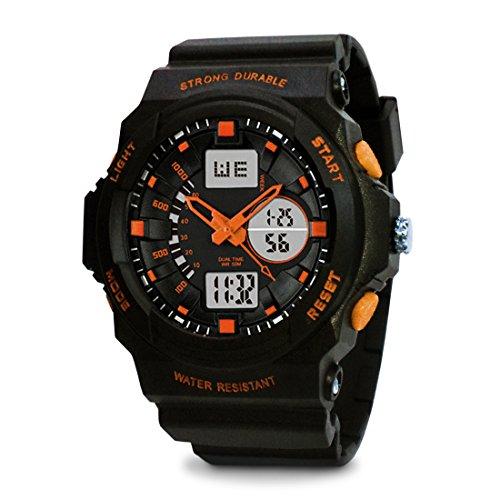 TOPCABIN Swim Chronograph-50m Waterproof Digital-analog Children Sport Watch with Alarm Stopwatch Orange