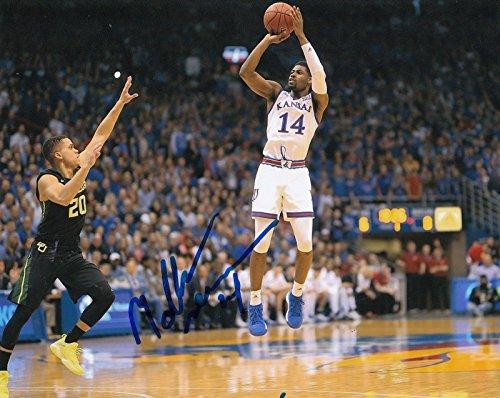 Malik Newman Signed Photo - KANSAS JAYHAWKS Basketball NBA 8X10 W COA #1 - Autographed College Photos