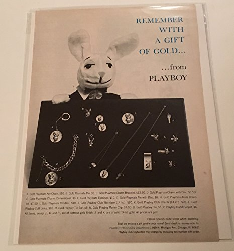 1965 Playboy Remember With A Gift Of Gold Jewelry Magazine Print Advertisement