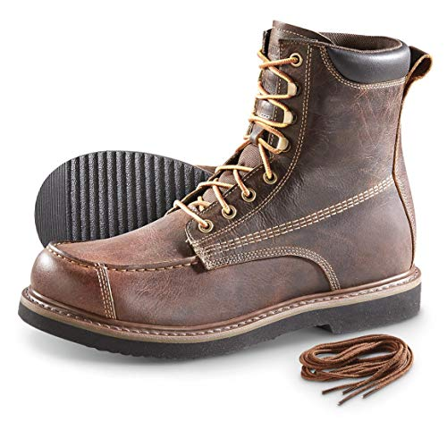 Guide Gear Men's Uplander Waterproof Lace Up Hunting Boots, Brown, 11D (Medium)