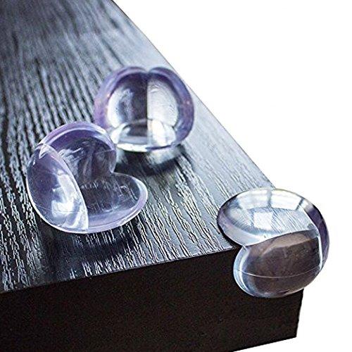 Sto/ßschutz f/ür Babys und Kinder transparent aus Kunststoff f/ür Tisch- und M/öbel-Ecken 12 St/ück KIDUKU Premium Eckenschutz und Kantenschutz