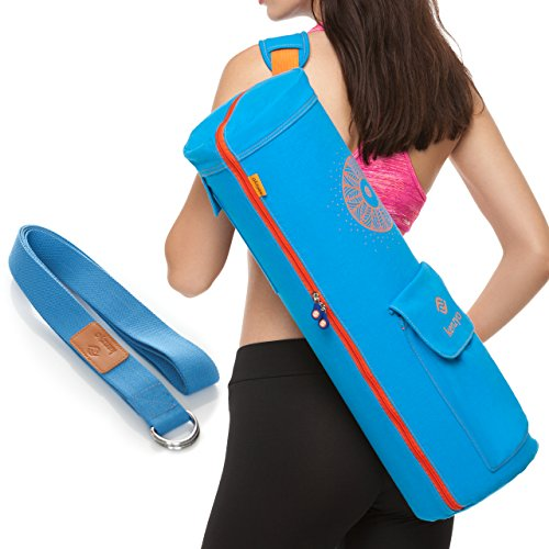 Yoga Mat Bag And Carrier - With Multi-Functional Storage Pockets, Adjustable Shoulder Strap, 4 Air...