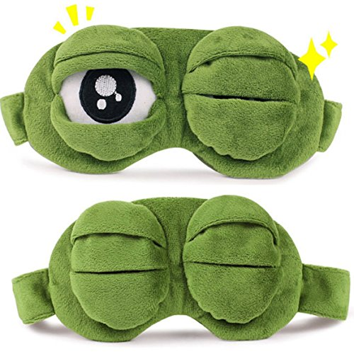 Villain Costumes Couple Super (Coerni 1PC Cute Sad 3D Frog Eyes Cover Sleep Mask - Super Soft Padded Shade Cover for Travel)