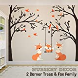 Wall Decals Fox Family Nursery Woodland Corner Trees