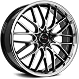 Drifz Vortex 18x8 Machined Black Wheel / Rim 5x4.5 & 5x120 with a 35mm Offset and a 74.10 Hub Bore. Partnumber 302MB-8805735