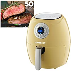 GoWISE USA 2.75-Quart Digital Air Fryer with Recipe Book Majestic Yellow GW22664