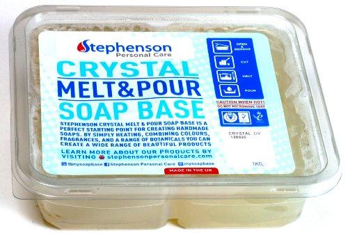 2lb Olive Oil Stephenson Melt and Pour Soap Base (Crystal OV) (Base Olive)