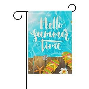 ColourLife - Bandera de playa de vacaciones de temporada de 30,48 x 45,72 cm, bandera decorativa para el hogar, interior, exterior, decoración de piscina de verano