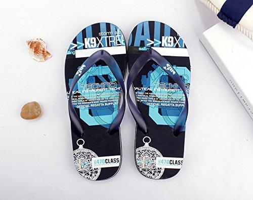 Happy Lily hombre flip-folp Zapatillas con antideslizante Suela de Goma Eva Y-STYLE piscina Tanga abierto bolsa interior o al aire libre sandalias Casual playa calzado, azul