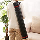 """2-Pack XX-Large Extendable Poster Tubes Expand from 30.5"""" to 50"""" with Shoulder Strap 