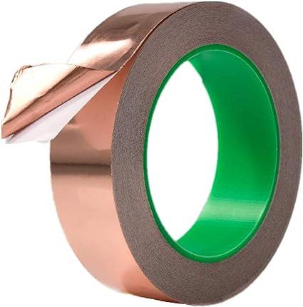 Lámina de cobre banda leitfähiger adhesivo para EMI ...