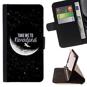 - Take Me To Moon Sky Cosmos Love - - Prima caja de la PU billetera de cuero con ranuras para tarjetas, efectivo desmontable correa para l Funny HouseFOR Apple Iphone 6