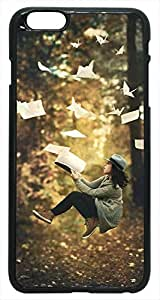 Generic 3D Fantasy Levitation Paper Birds Hard Case for iPhone 6 Plus Black