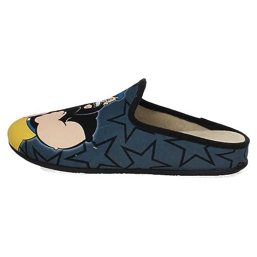 VULCA-BICHA 1802 Chinelas Slippers VB Hombre Zapatillas CASA Gris-Negro 39: Amazon.es: Zapatos y complementos