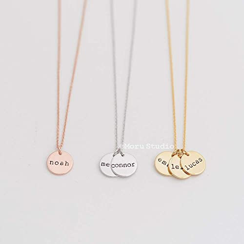 Kids Initial Necklace Initial Necklace Grandmother Necklace Mothers Necklace Gold Initials Gold Initials Gold Gold Initial Necklace