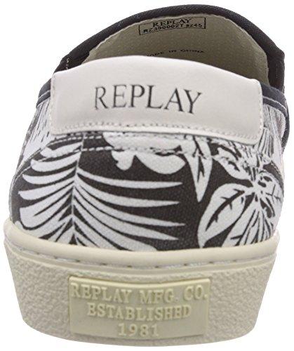 REPLAY Mikan - zapatilla deportiva de lona hombre negro - Schwarz (3)