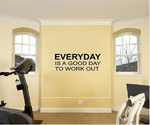 Everyday Is a Good Day to Workout Fitness Workout Gym Motivational Vinyl Wall Decal Sticker Wall Letters  home workout mirror | Gym Mirror installation Step  by Step from Fab Glass and Mirror 51aKdYdRUIL