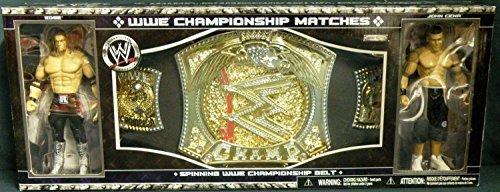 - WWE Jakks Pacific Wrestling Exclusive Spinning WWE Championship Belt with John Cena & Edge Action Figures