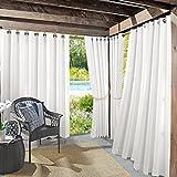 Cheap Sun Zero Beacon Woven Indoor/Outdoor UV Protectant Grommet Curtain Panel, 52″ x 84″, White