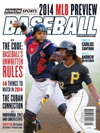 2014 Athlon Sports MLB Baseball Preview Magazine- Cleveland Indians/Pittsburgh Pirates Cover (Pittsburgh Cover Book Pirates)