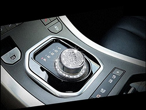 Bumper Land Rover (Eppar New Decorative Shift Knob Button Cover 2PCS for Land Rover Range Rover Evoque 2011-2016 (Silver))