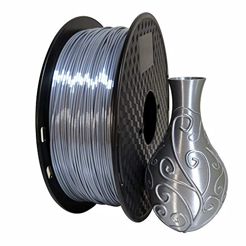 Silk Silver PLA 1.75mm 3D Printer Filament 1KG (2.2LBS) Printting Materials Silky Shiny PLA Metal Silver Like