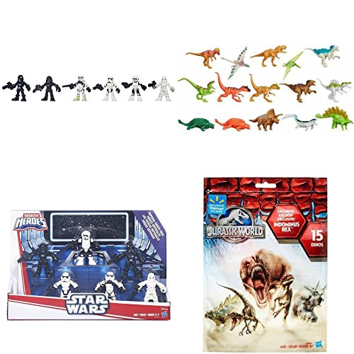Star Wars Galactic Heroes Imperial Forces Figure Pack & Jurassic World Dinosaurs Pack