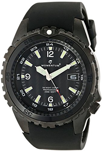 Momentum Men's 1M-DV68B4B D6 Night Vision Black Stainless Steel Watch