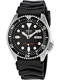 SEIKO SKX007K,Men's Automatic Diver,Self Winding,Stainless Steel Case,Silicone Strap,Screw Crown,200m WR,SKX007
