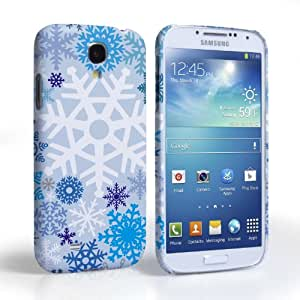 Caseflex Samsung Galaxy S4 Case White / Blue Winter Christmas Snowflake Hard Cover
