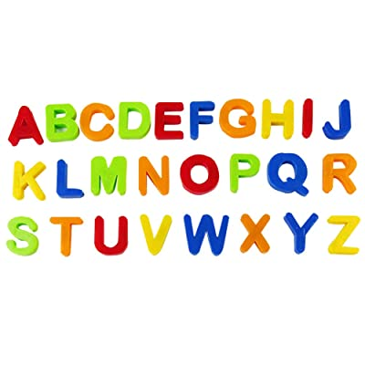 comeslele Toys & Games & Puzzle Multicolor Magnetic Numbers Alphabet Fridge Magnet Learning Education Kids Toy - Capitalized Letter#: Toys & Games