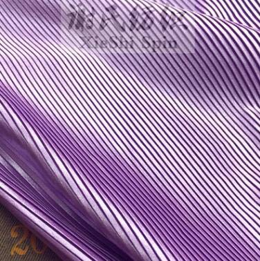 Pukido 3Metres Ruffle Pleated Folded Imitation Silk Satin Fabric for Dancing Dress Clothing Wrinkled Crumple Crushed Skirt Lace Fabric - (Color: Purple, Size: L)