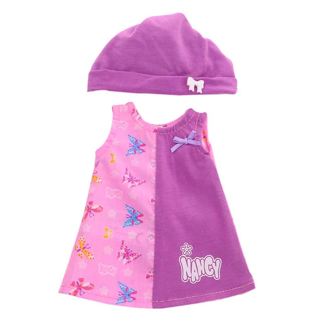 Webla Cartoon Dress Doll 14 pulgadas con sombrero bonito vestido ...