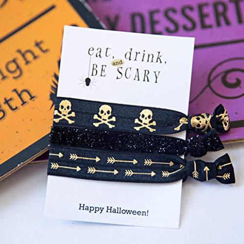 Halloween Skulls Party Favors - Hair Ties (5 Pack) ()