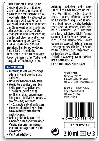 Sonax Xtreme 222100 Gloss Sealant 210 Ml Auto