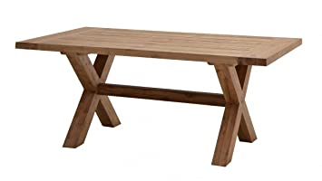 GRANDE TABLE D\'EXTERIEURE EN TECK RECYCLE HAUT DE GAMME: Amazon.fr ...