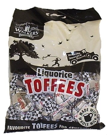Walkers Liquorice Nonsuch Toffee - Case of 12 x 150g by Walkers Toffee