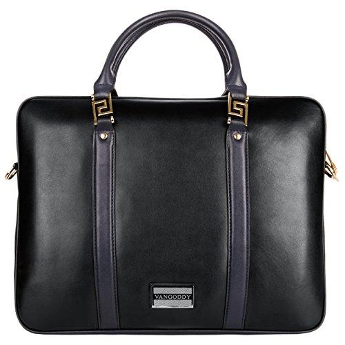 VanGoddy Meka, Genuine Leather Laptop Bag for Acer Aspire / TravelMate / ChromeBook 10
