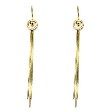 ae636aad50f330 Amazon.com: Paradise Jewelers 14K Yellow Gold Circles Hanging ...