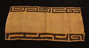 Kubát, Bakuba, tela de rafia, tradicional boardado, Kongo, camino de mesa, hecho en África