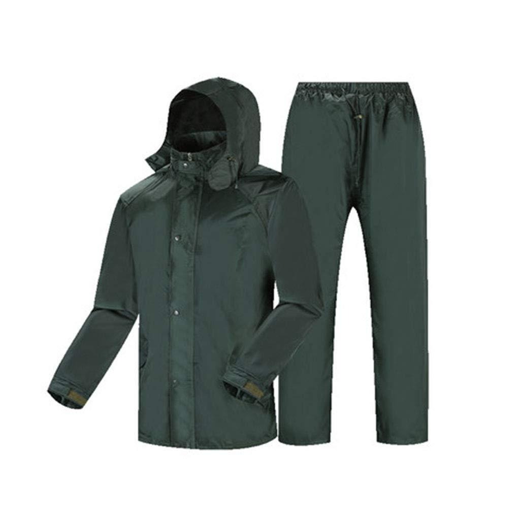 vert XXXXL HBWJSH Imperméable en Deux Parcravates, Pantalon imperméable, Unisexe, idéal pour Les journées pluvieuses équitation Camping randonnée, etc. (Couleur   vert, Taille   XL)