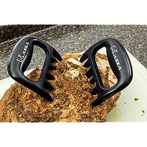 Meat Claws by Kassa (Set of 2) - Sharp Pulled Pork Shredder - Handler Carving Forks - Brisket BBQ Pulling