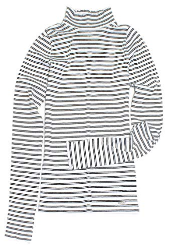 Hollister Women's Lettuce-Edge Mockneck Top Ribbed Sweater HOW-21 (X-Small, 0766-104) ()