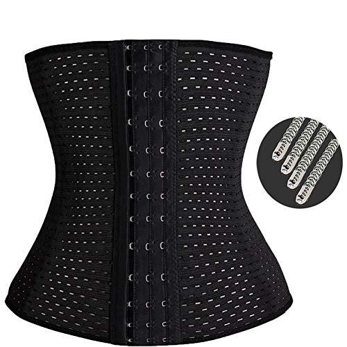 ASO-SLING Womens Latex Waist Trainer Belly Slimming Corset Cincher Sheath Strap Belt Shaper