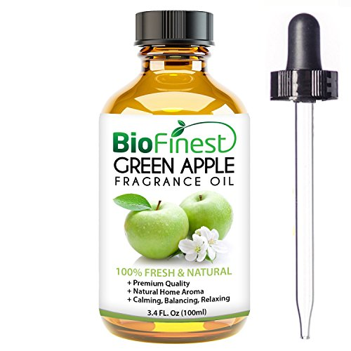 Refresher Home Oil - BioFinest Green Apple Fragrance Oil -100% Pure & Natural - Fresh Home Scent - Air Refresher - Relaxing Aromatherapy - Skin and Hair Care - FREE E-Book and Dropper (100ml)