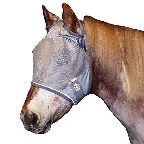Derby Originals Reflective Fly Mask with One Year Warranty - Without Ears or Nose Cover