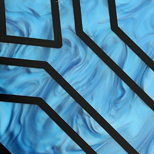 Evening Handbag Box Acrylic Clutch Stripes Shoulder Bag for Party (Black) by KNUS (Image #6)